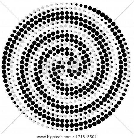 Circle abstract dotted vector background. Halftone effect