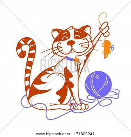 Illustration Of Funny Cat
