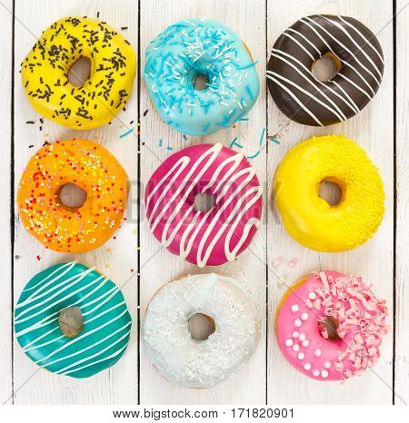 Different Colorful Donuts