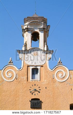 Tower of Palace of the Governors on the citadel of Bastia on Corsica France