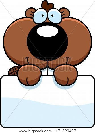Cartoon Beaver Kit Sign