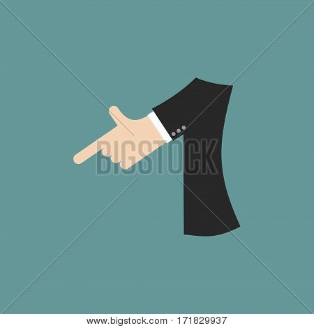 Number 1 Letter Businessman Hand Font. It Shows Finger Print. Arm Symbol One Alphabet. Sign Of Abc
