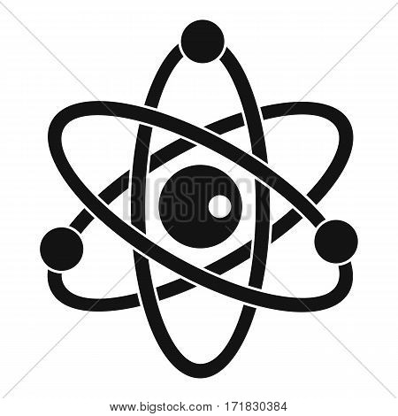 Atomic model icon. Simple illustration of atomic model vector icon for web