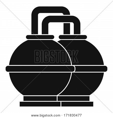 Industrial tanks for petrol and oil icon. Simple illustration of industrial tanks for petrol and oil vector icon for web