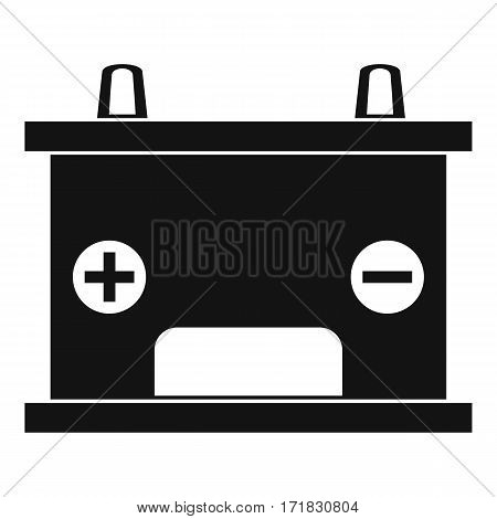 Electricity accumulator battery icon. Simple illustration of electricity accumulator battery vector icon for web
