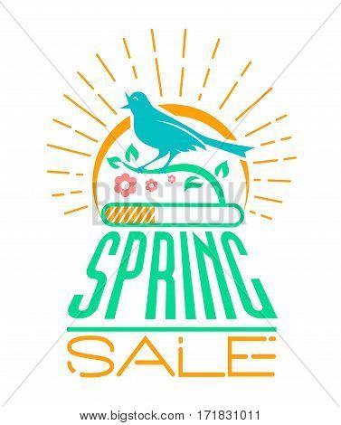 Spring Sale Design  Singing Bird