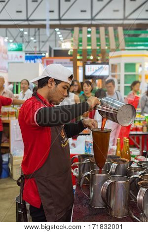 Chef Making Traditional Thai Tea