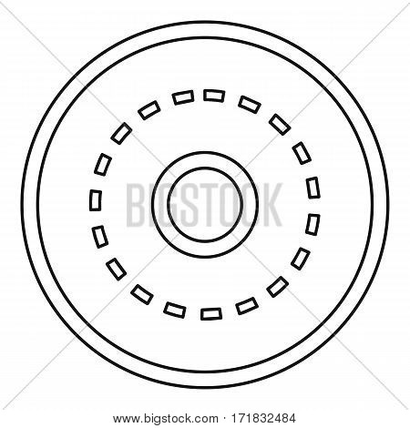 Circle road icon. Outline illustration of circle road vector icon for web