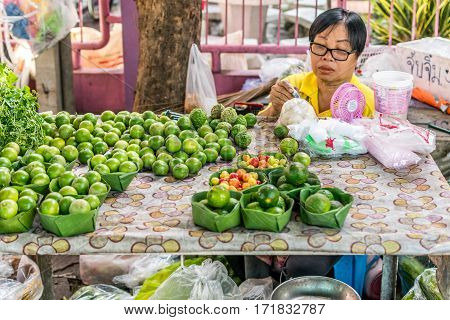 Thai Exotic Fruits (lemon) In Market