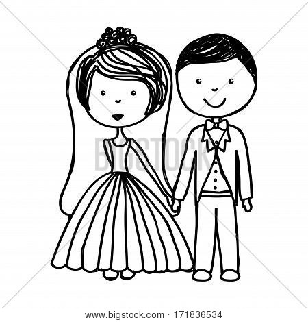 just married couple icon vector illustration design