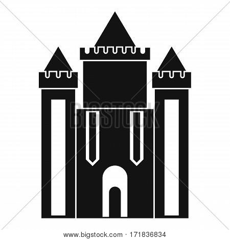 Ancient fort icon. Simple illustration of ancient fort vector icon for web