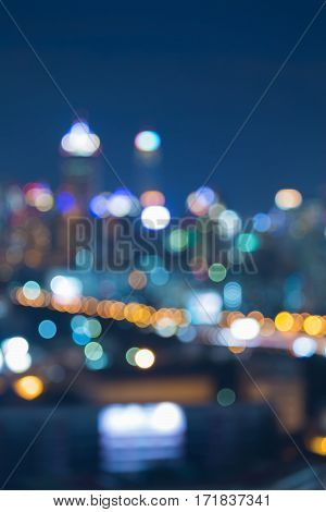 Blurred bokeh city office building abstract background