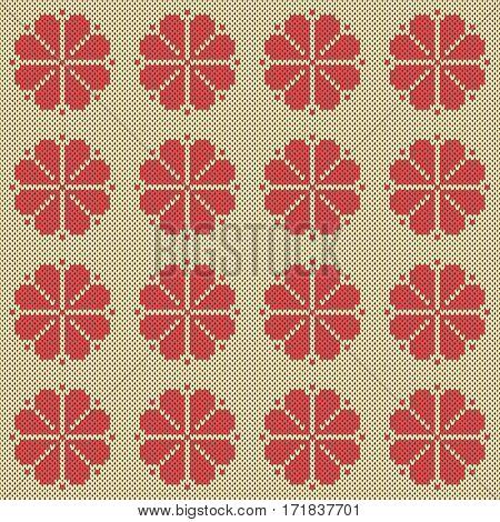 Seamless jacquard knitting pattern. Knitwear texture. Vector Illustration