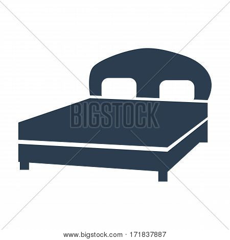 Bed Icon. Vector Illustration
