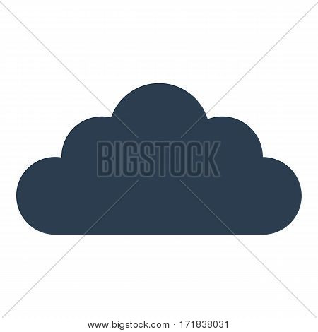 Cloud Icon Isolated On White Background.