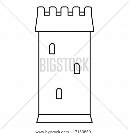 Ancient battle tower icon. Outline illustration of ancient battle tower vector icon for web