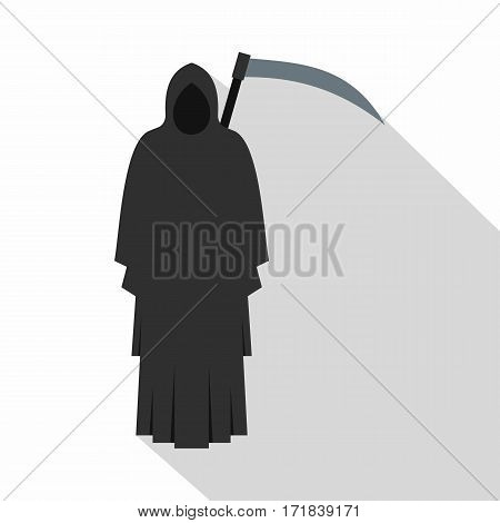 Grim reaper icon. Flat illustration of Grim reaper vector icon for web isolated on white background