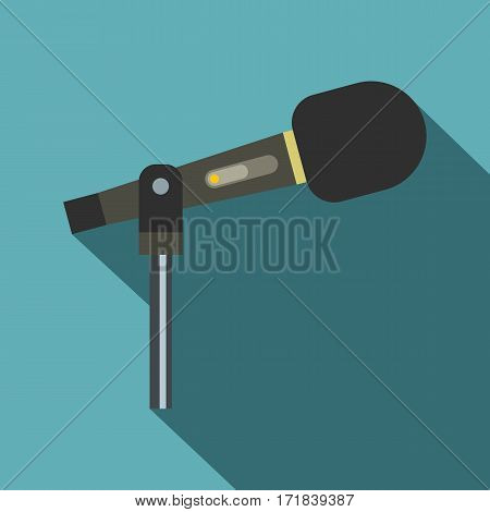 Sound recording equipment icon. Flat illustration of sound recording equipment vector icon for web isolated on baby blue background