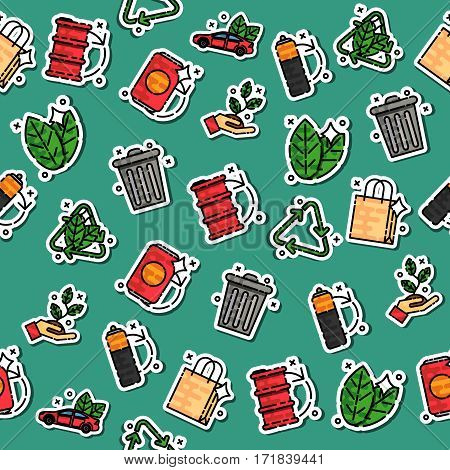 Colored recycling pattern. Vector illustration EPS 10