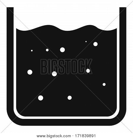 Beaker filled with liquid icon. Simple illustration of beaker filled with liquid vector icon for web