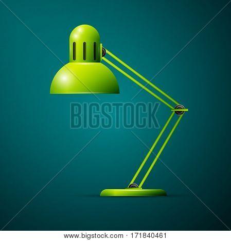 Illustration of desk lamp design icon concept