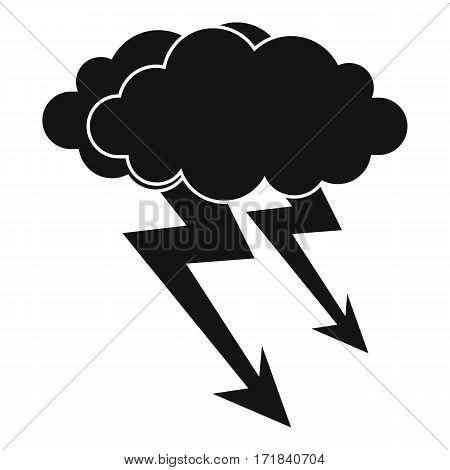 Lightning cloud icon. Simple illustration of lightning cloud vector icon for web