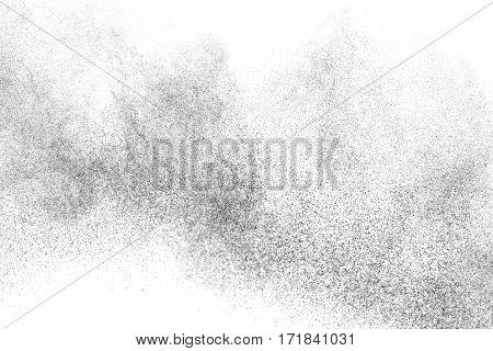 Freeze Motion Of Black Particles.