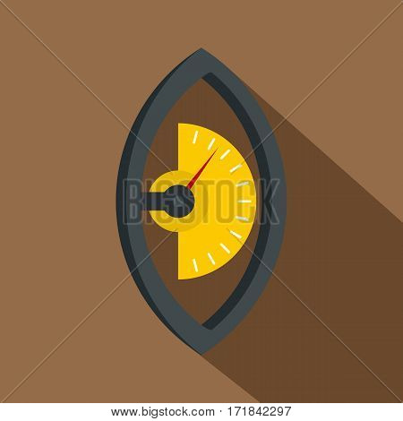 Hand power meter icon. Flat illustration of hand power meter vector icon for web isolated on coffee background