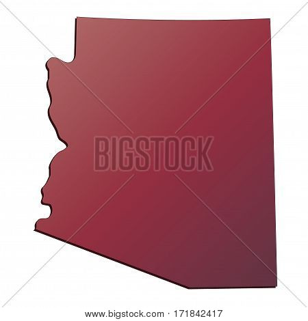 3D Arizona (USA) Autumn Gradient map with shadow