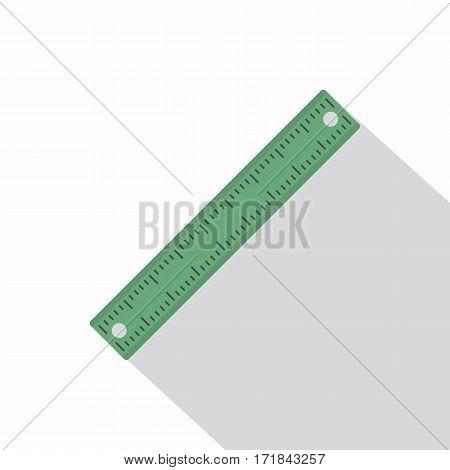 Ruler, rectangular shape icon. Flat illustration of ruler, rectangular shape vector icon for web isolated on white background