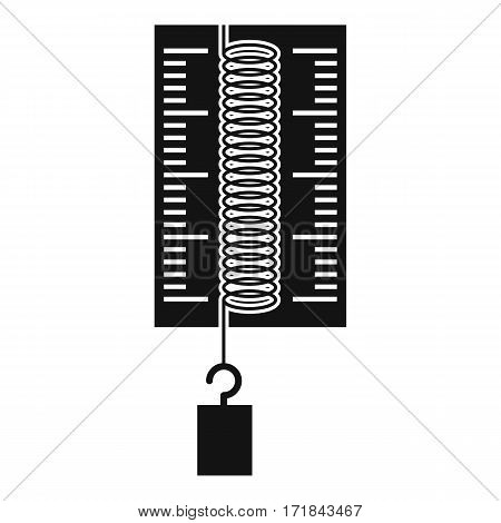 Physics dynamometer for laboratory work icon. Simple illustration of physics dynamometer for laboratory work vector icon for web
