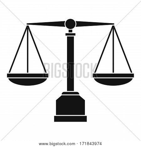 Justice scale icon. Simple illustration of justice scale vector icon for web