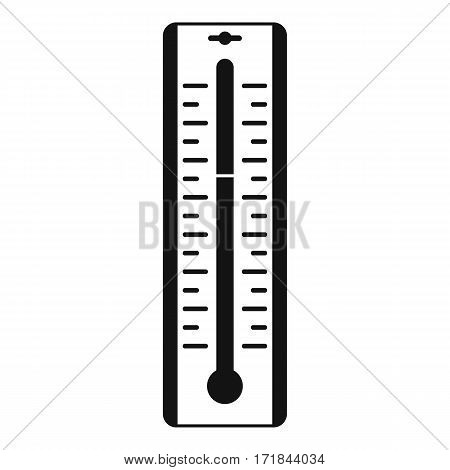 Thermometer with degrees icon. Simple illustration of thermometer with degrees vector icon for web