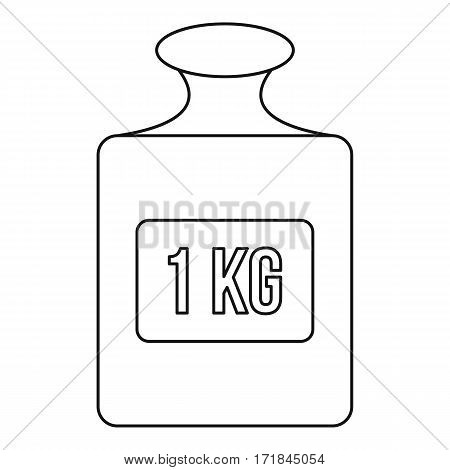 Weight sign icon. Outline illustration of weight sign vector icon for web