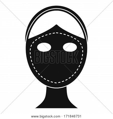 Face marked out for cosmetic surgery icon. Simple illustration of face marked out for cosmetic surgery vector icon for web
