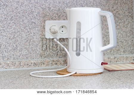 White electrical kettle