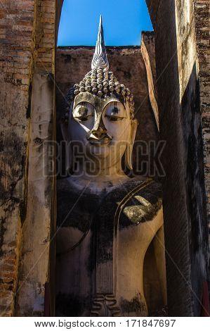 Sukhothai history park in  wad srichum temple