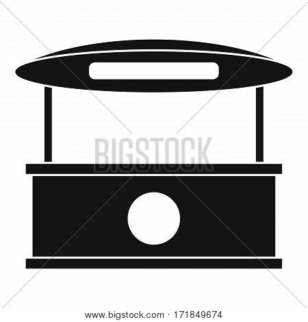 Shopping counter with tent icon. Simple illustration of shopping counter with tent vector icon for web