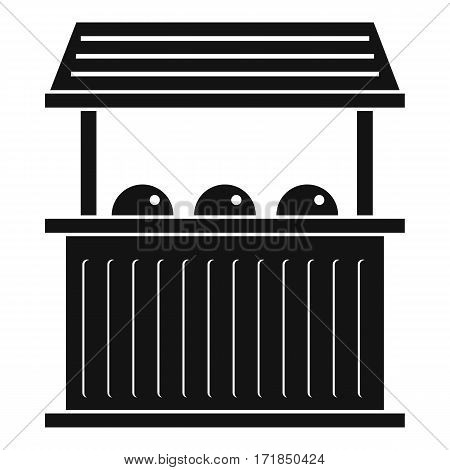Carnival fair booth icon. Simple illustration of carnival fair booth vector icon for web