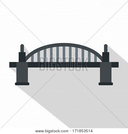 Bridge icon. Flat illustration of bridge vector icon for web
