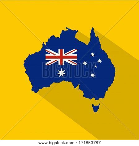 Australia icon. Flat illustration of australia vector icon for web