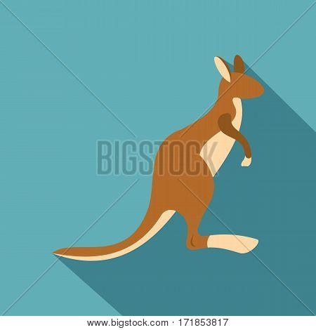 Kangaroo icon. Flat illustration of kangaroo vector icon for web