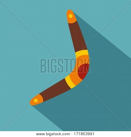 Boomerang icon. Flat illustration of boomerang vector icon for web