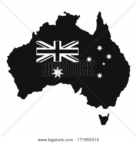 Australia icon. Simple illustration of australia vector icon for web
