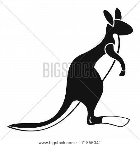 Kangaroo icon. Simple illustration of kangaroo vector icon for web
