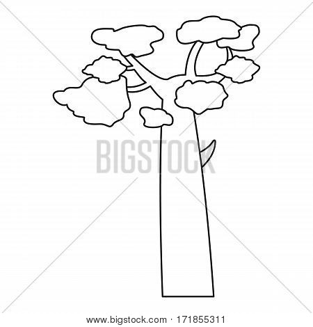 Baobab icon. Outline illustration of baobab vector icon for web
