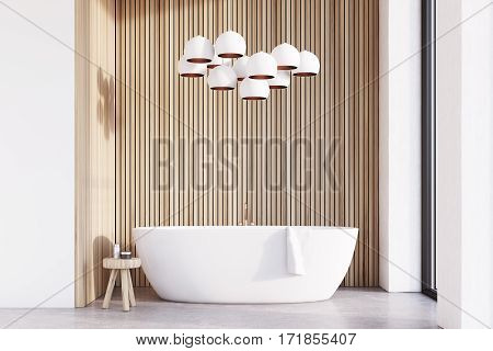 Bathroom With Lamps, Light Wood