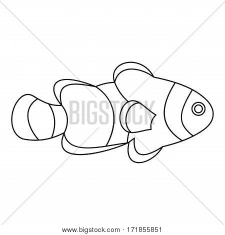 Fish clown icon. Outline illustration of fish clown vector icon for web