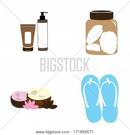 Set of spa icons on a white background, Vector illustration