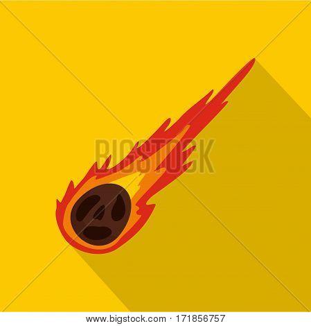 Meteorite icon. Flat illustration of meteorite vector icon for web